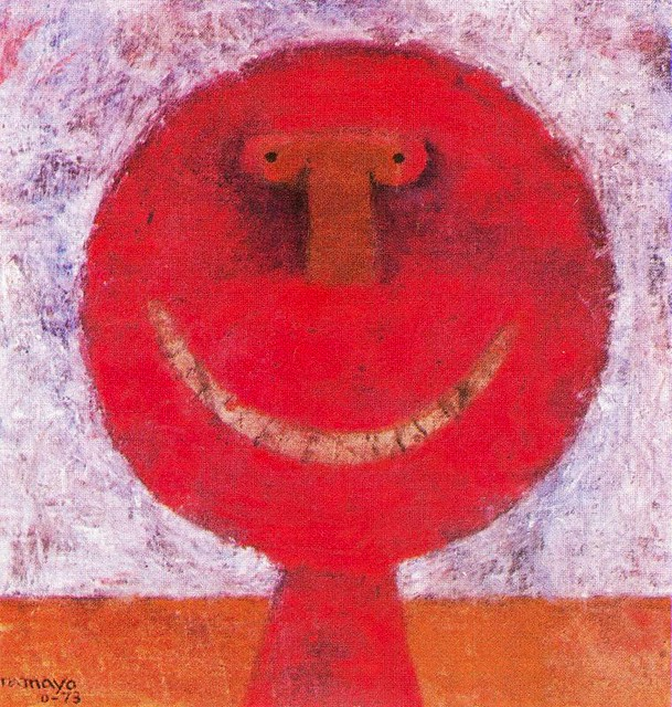 Tamayo rufino 1899 1991 1973 smiling head private for Mural rufino tamayo