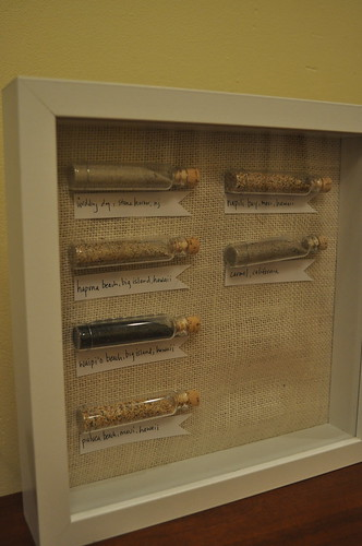 shadowbox sand display