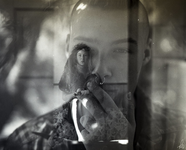 a middle format double exposure, my brother and i