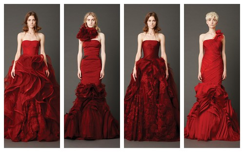 {Red Wedding Gowns} by Vera Wang by Nina Renee Designs