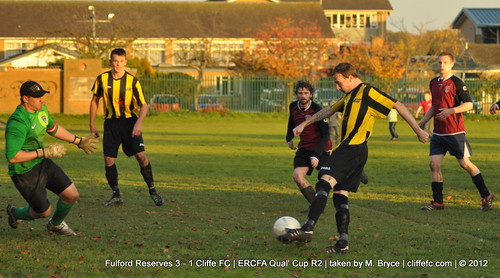 Cliffe FC 1 - 3 Fulford Res (ERCFA Qual Cup R2) 10Nov12