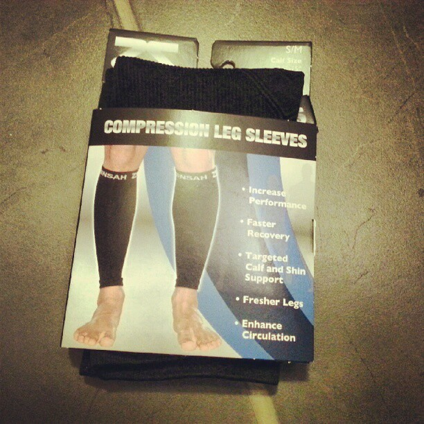 Bought my first pair of @zensah compression sleeves!