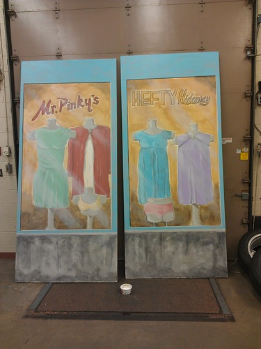 Mr Pinky's Hefty Hideaway store's window front by Arts & Pepper :: Pascal Labillois