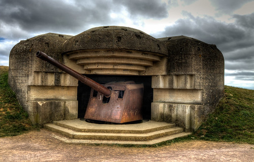 152mm Gun, Atlantic Wall, Longues-sur-Mer, Normandy, France