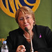 UN Women Executive Director Michelle Bachelet holds a press conference at the Japan National Press Club