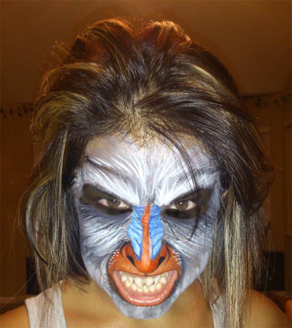 monkey face makeup