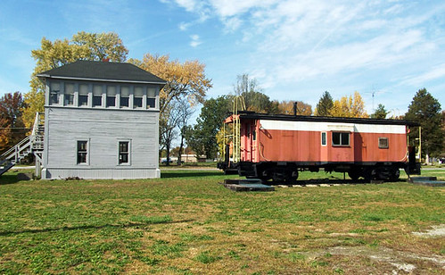 ramsey train station and caboose 023
