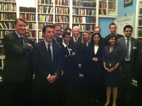Echanges à Londres sur les politiques progressistes avec Bill Clinton