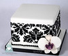 W9138 mini square damask wedding cake toronto