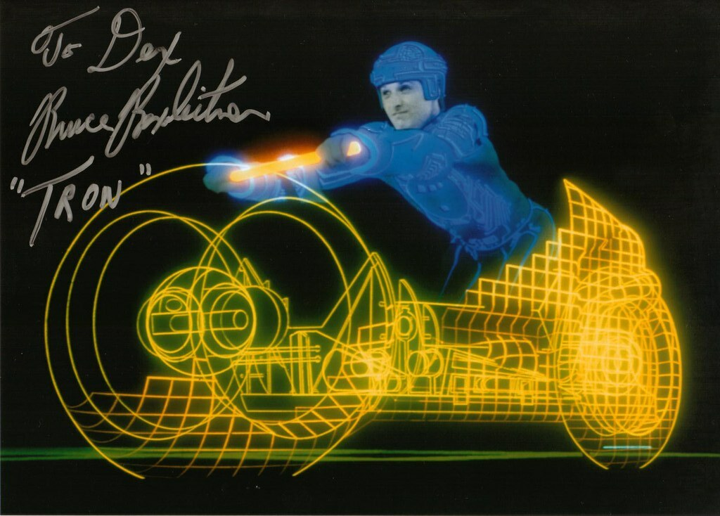 Supermegafest 2012 Bruce Boxlietner autograph Tron lightcycle