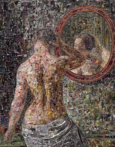 Vik Muniz, Female Model Standing Before a Mirror, after C.W. Eckersberg, 2012