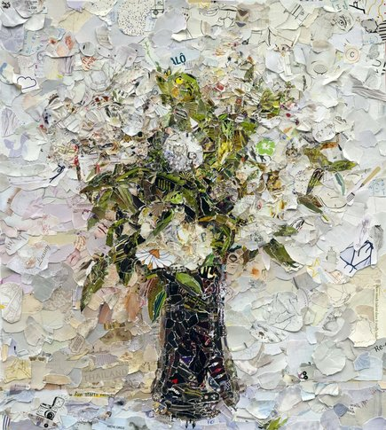Vik Muniz, Fairy Roses, after Fantin Latour, 2012