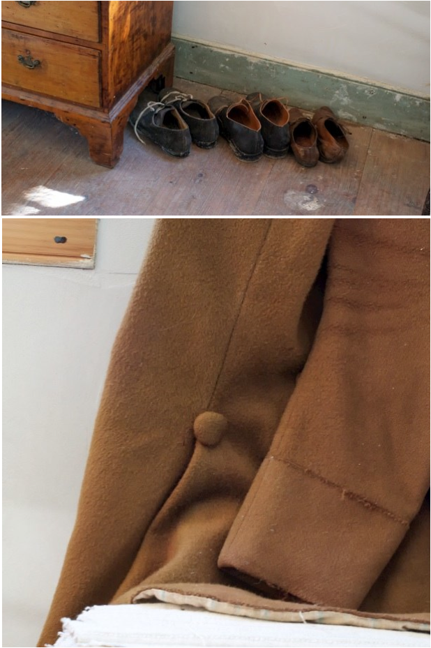 coat and shoe collage