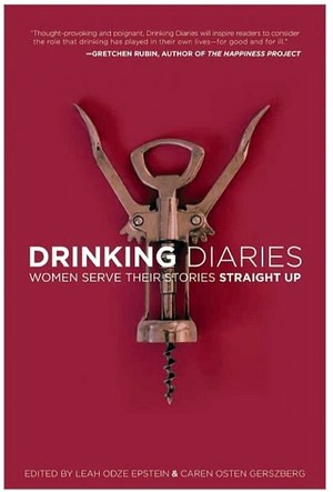 Cover of Drinking Diaries, picturing a wine corkscrew