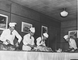 Thanksgiving dinner at the USO club: Pensacola, Florida