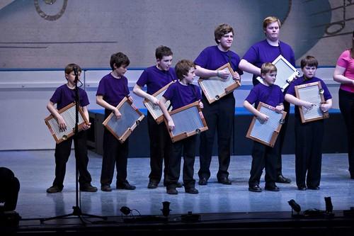 The washboard band in Rhythm, a scene from Edinburgh Gang Show 2012. Photo © Scott Parker