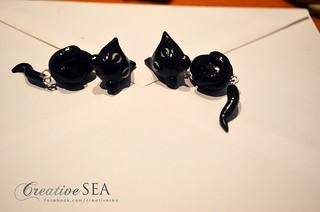 Cercei pisicuta neagra