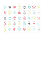 A2 card size JPG snowflake snow crystals distress paper LARGE SCALE