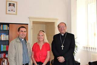 Vassula met Bishop Jan Orosch accompanied by Fr. Peter