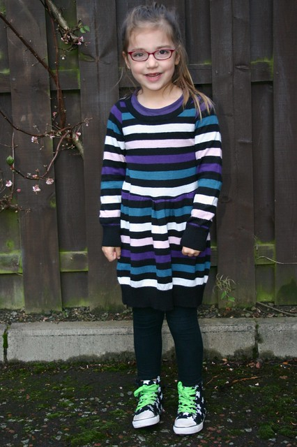sweater refashion dress 10