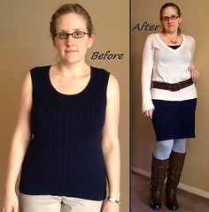 Knit Pencil Skirt Before & After