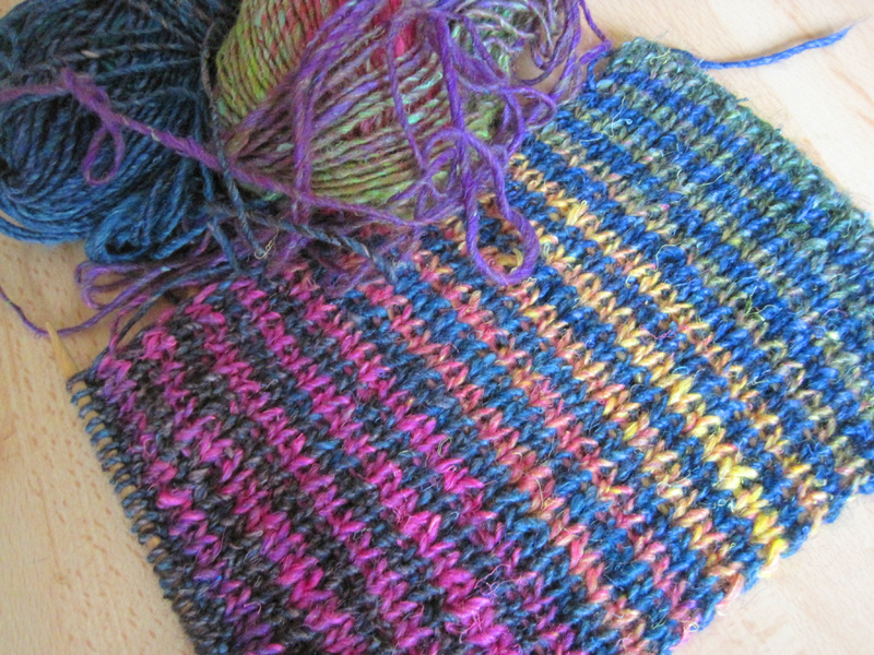 Noro Striped Scarf WIP