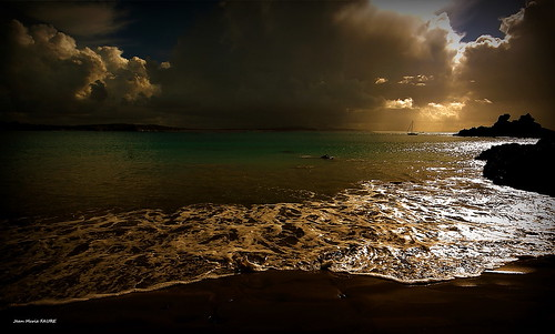 sunset sea sky sun mer seascape beach nature landscape soleil brittany bretagne ciel paysage plage coucherdesoleil finistère photomix jmfaure crozgat29 bestevergoldenartists