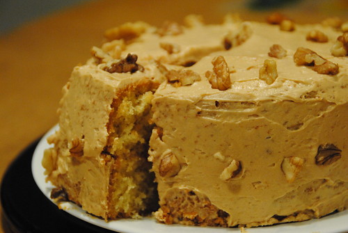 coffee walnut BBC cake