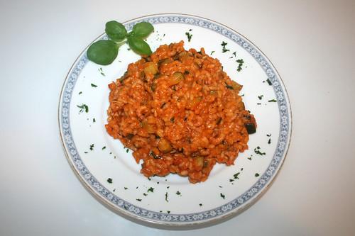 35 - Krabben-Risotto mit Zucchini & Basilikum / Shrimps risotto with zucchini & basil - Serviert