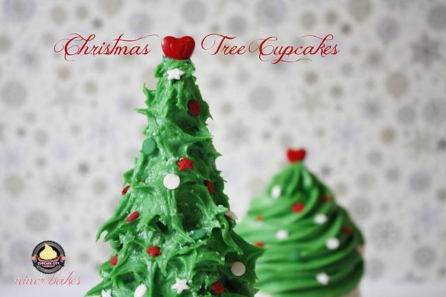 Weihnachts Winter Wunderland: Cupcakes + wie mache ich Weihnachtsbaum Cupcakes