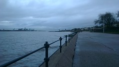 Liverpool from Vale Park Promenade Gates: Copyright 27th November, 2012 Kevin & Jane Moor