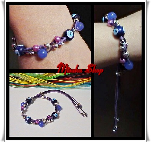 Pulsera Ajustable Purple Mix