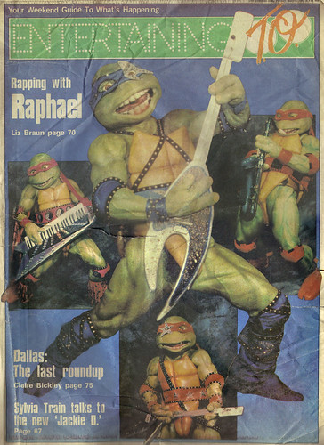 "The Toronto Sun :: Friday May 3,1991 ENTERTAINING TO; ""Rapping with Raphael"", 'Teenage Mutant Ninja Turtles - Coming Out of Their Shells Tour' { ETO FRONT PAGE }  (( 1991 ))"