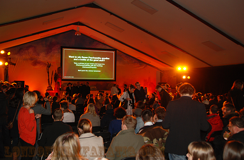 The audience settles in at the Jameson Cult Film Club's Seven Psychopaths premiere 27 November 2012