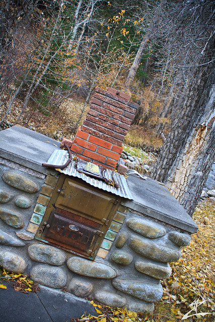 Outdoor wood burning stove flickr photo sharing for Wood burning stove for porch