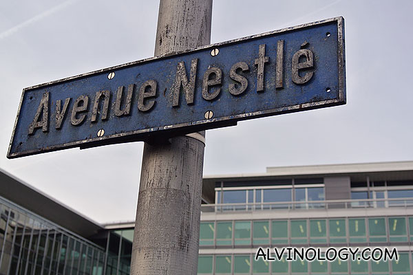 There is a road named after Nestle in Vevey