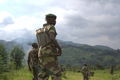 M23 rebels near Sake, Eastern DR Congo. The rebel group withdrew from Goma on Saturday, Dec. 1. Credit: William Lloyd-George/IPS