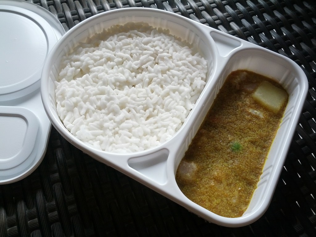 Inside of Bento Curry Rice at 7-11 Thai