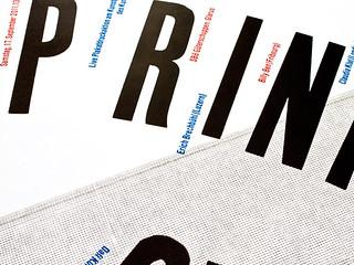Print Pong letterpress poster prints