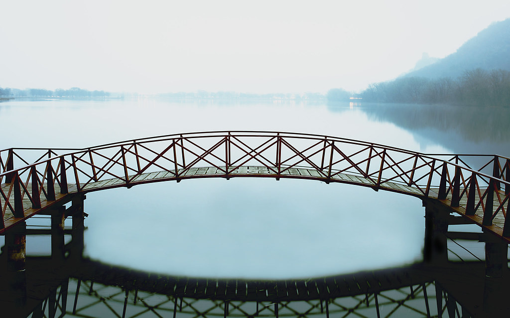 Foggy Foot Bridge - Winona, MN