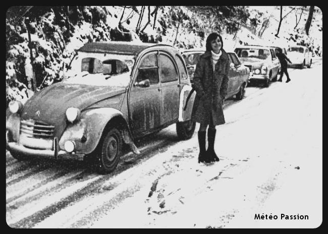 difficultés de circulation en Allemagne lors du coup de froid de début décembre 1973 météopassion