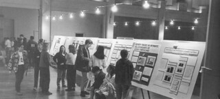 Fall science poster conference in Edmunds Ballroom in 1995, which featured 62 posters