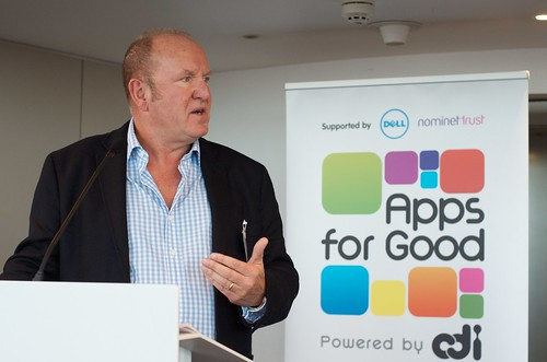 Ian Livingstone at Apps for Good Launch Event