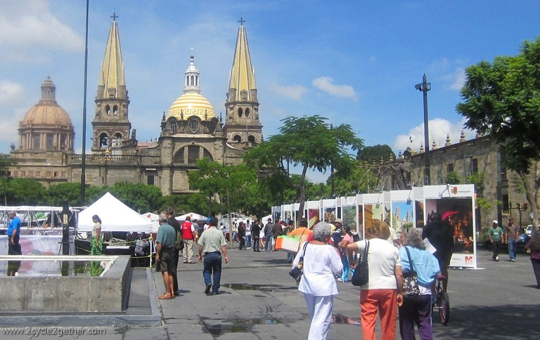 Guadalajara Cathedral from Plaza de Liberacion
