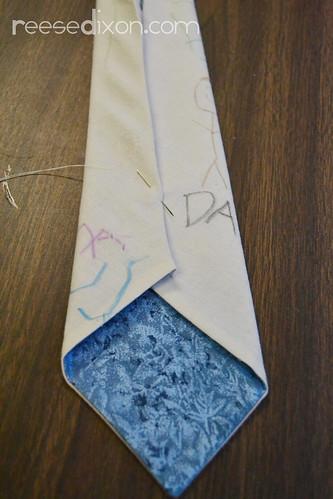 Kid's Artwork Tie Tutorial Step 8