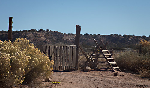 wood arizona nature fence wire gate desert post az ganado shrub barbed stile historicsite hff hubbelltradingpost