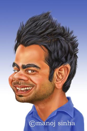 Virat Kohli Cartoon
