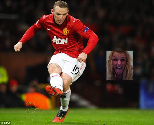 Wayne Rooney kicking my face