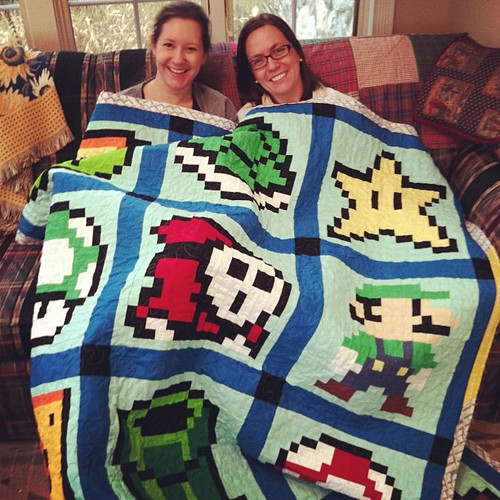 Faith and pals from Mario. #quiltcamp @freshlemonsquilts