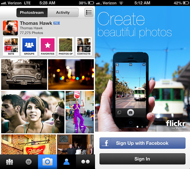 My Photos and the New Splash Screen for the New Flickr iPhone App